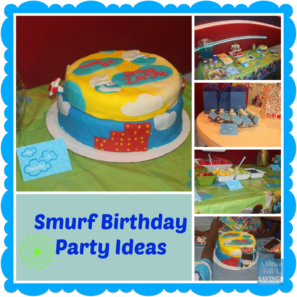 ... ideas that may help you if you are planning a smurf birthday party