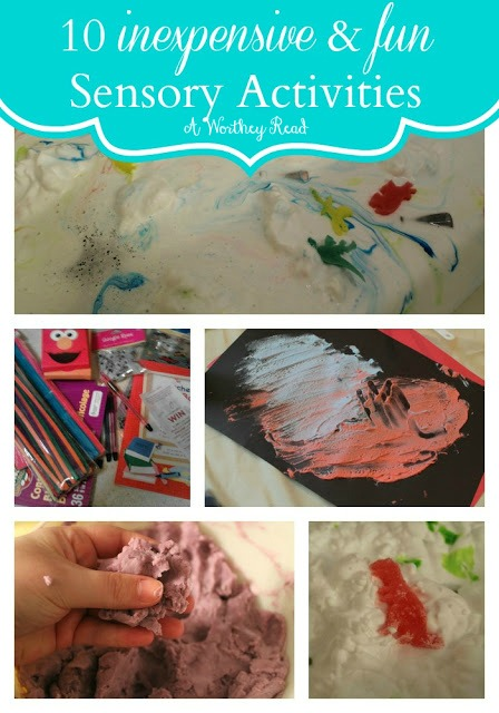 10 easy and inexpensive sensory activities