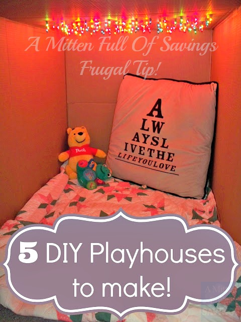 DIY Playhouses to make for kids