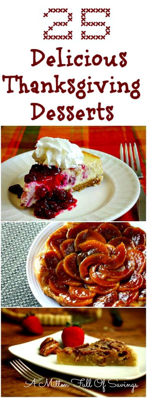 25 thanksgiving desserts