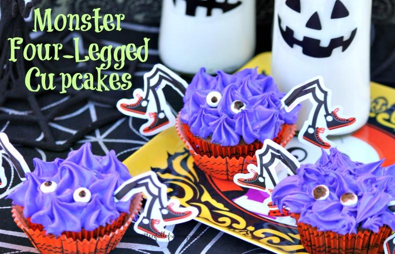 monster 4 legged cupcakes