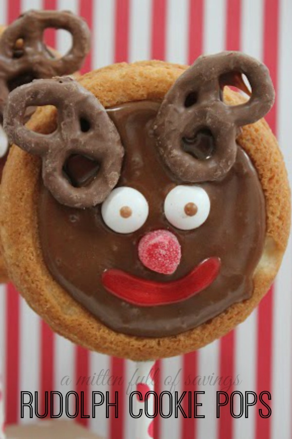 Rudolph Cookie Pops- Christmas Kid Dessert