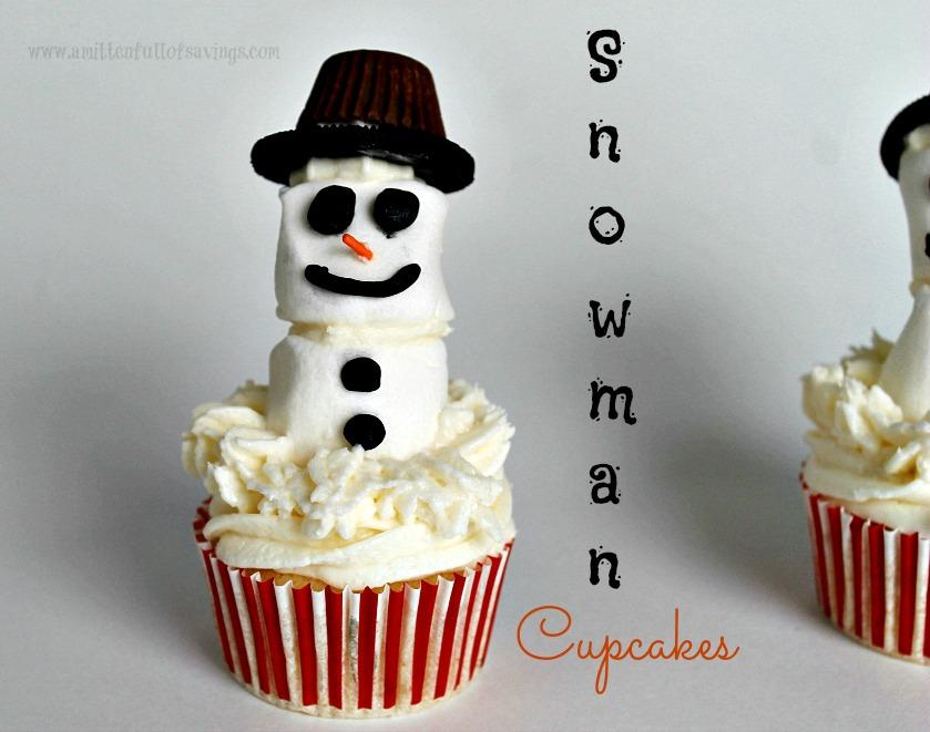 snowman cupcakes 1