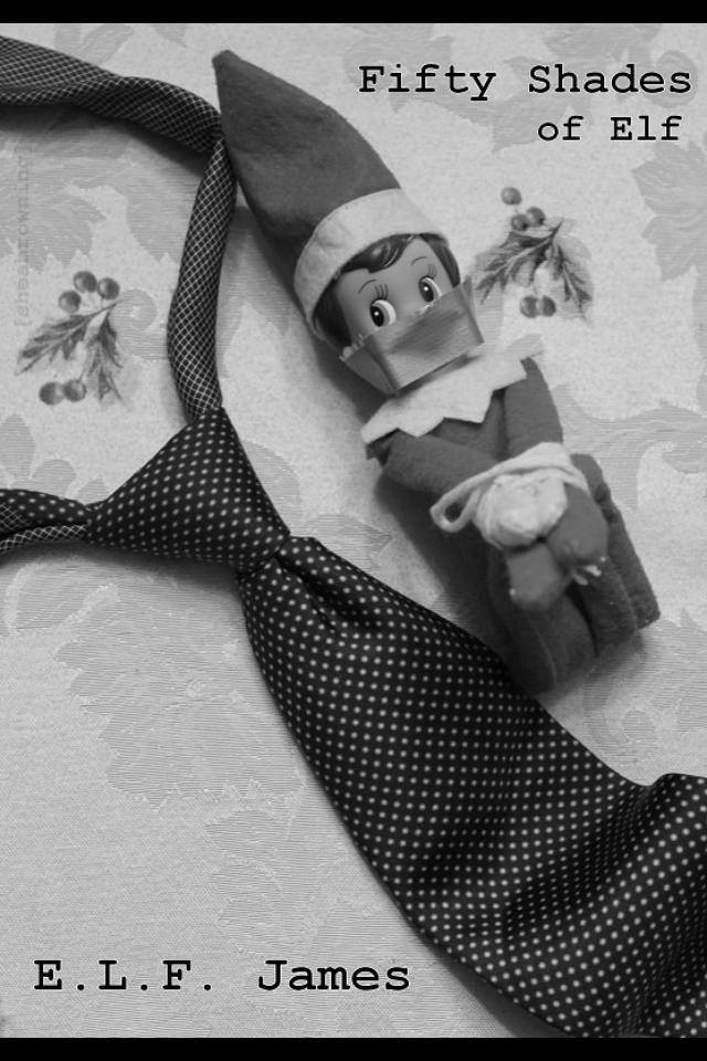 Elf on the Shelf 50 shades of Grey