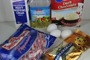Chocolate Peppermint Bundt Cake ingredients