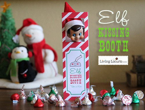 Elf on the shelf kissing booth