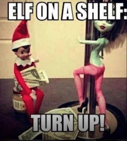 Elf on the shelf strip