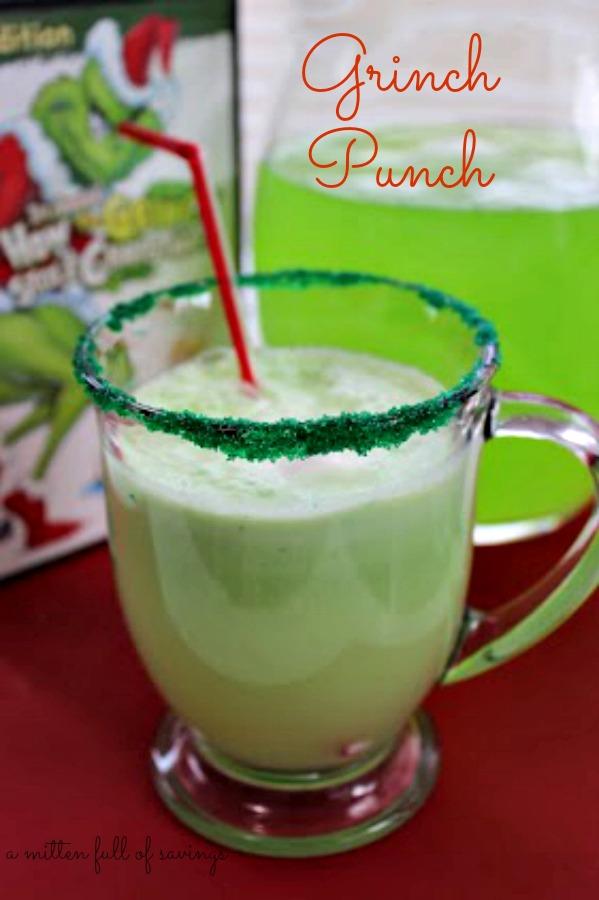 grinch punch recipea worthey read - Christmas Punch Ideas