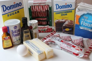 Peppermint Kiss Cookies ingredients