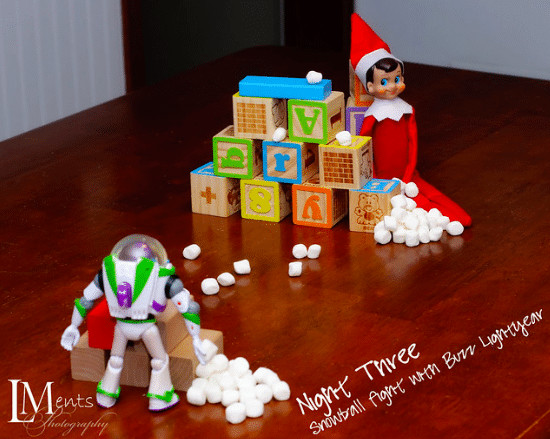 How about a fun snowball fight with Buzz Lightyear!