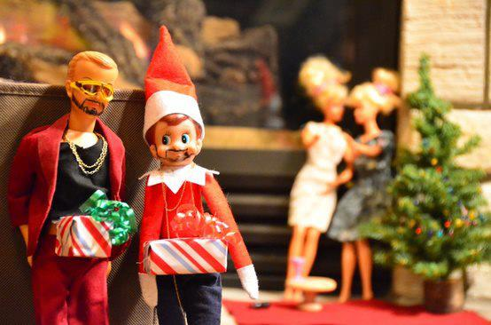 Adult Elf on the shelf ideas