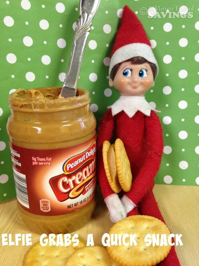 Elf on The Shelf Ideas: Elfie Grabs A Snack