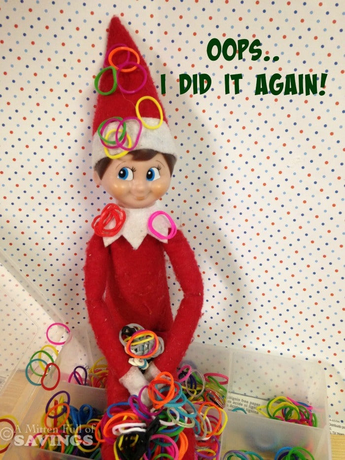 Elf on The Shelf Ideas: Oops I Did It Again