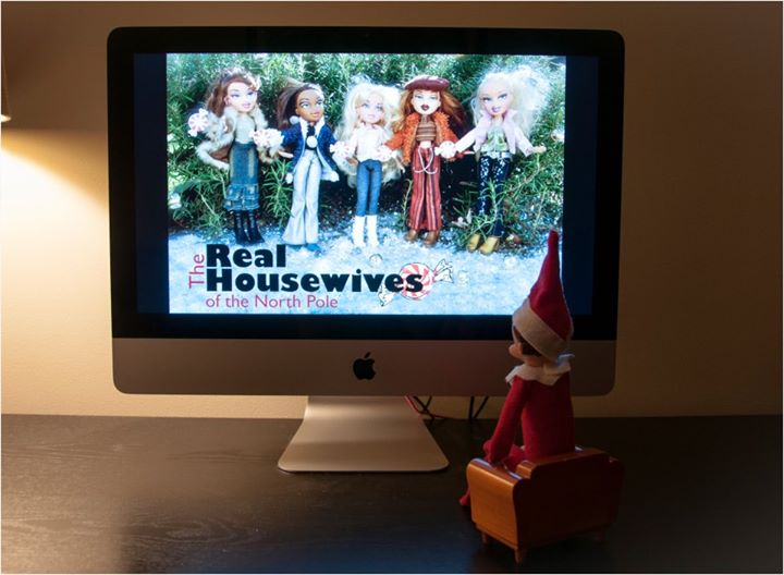 Elf on the Shelf watches the real housewives