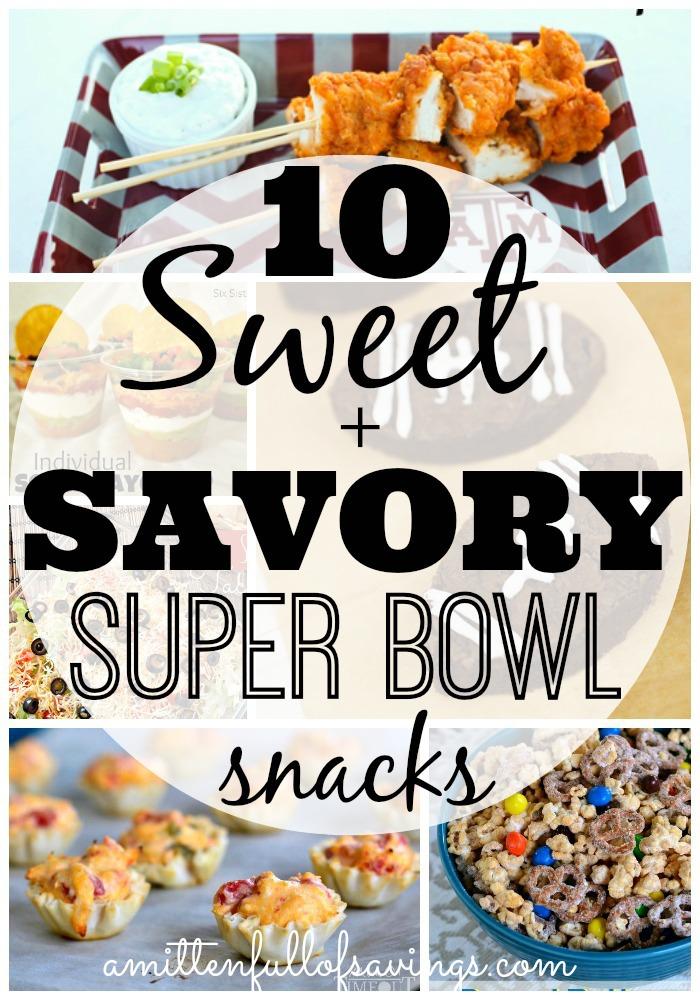 10 Sweet & Savory Super Bowl Snacks