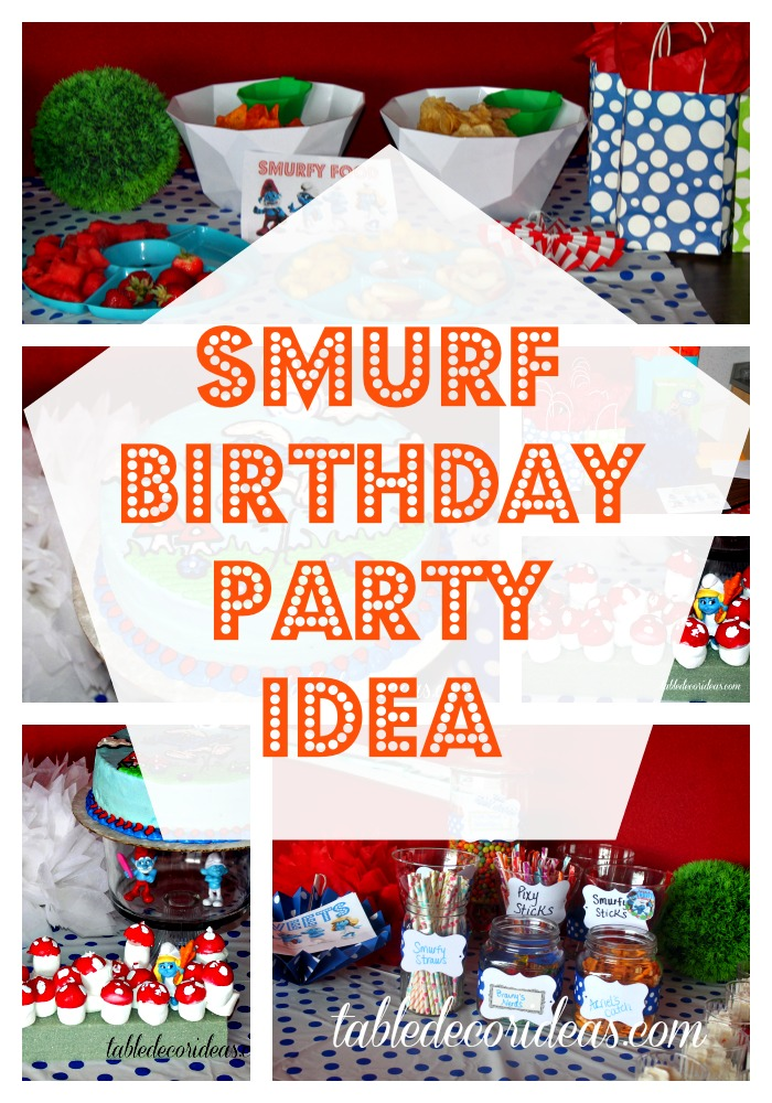 smurf birthday party idea