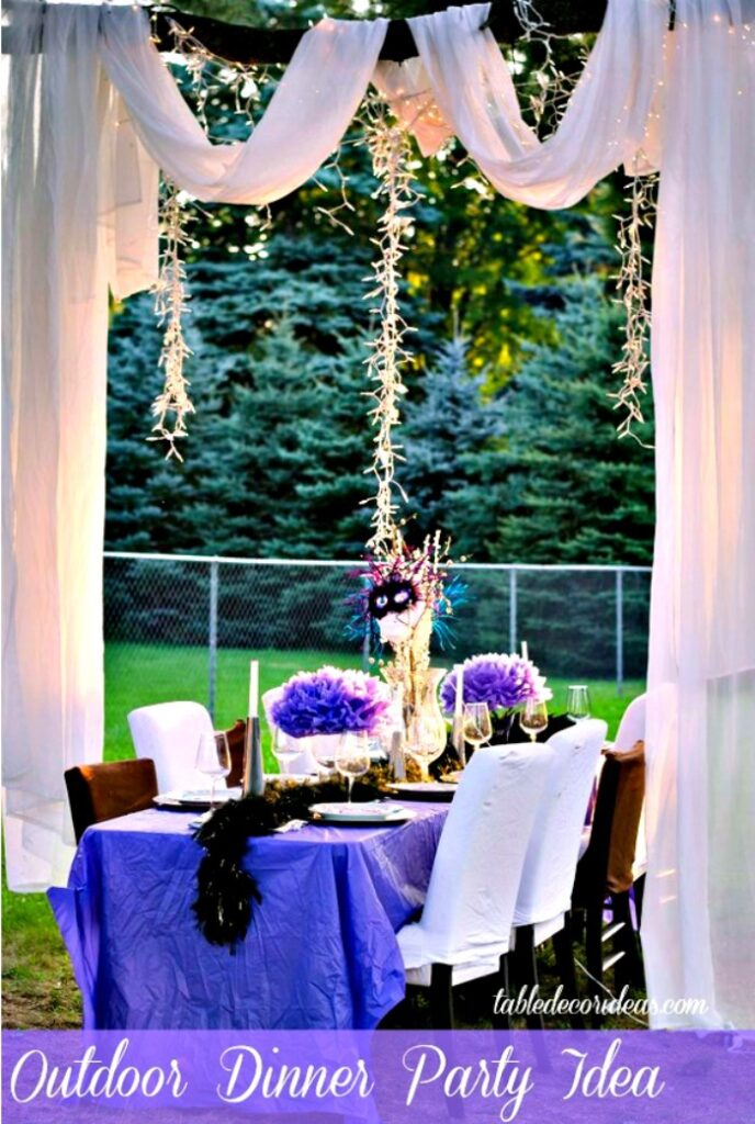 Take your outside dinner party to the next level with a few simple tips and ideas! Read Outdoor Dinner Party Idea and start planning your next outdoor event!