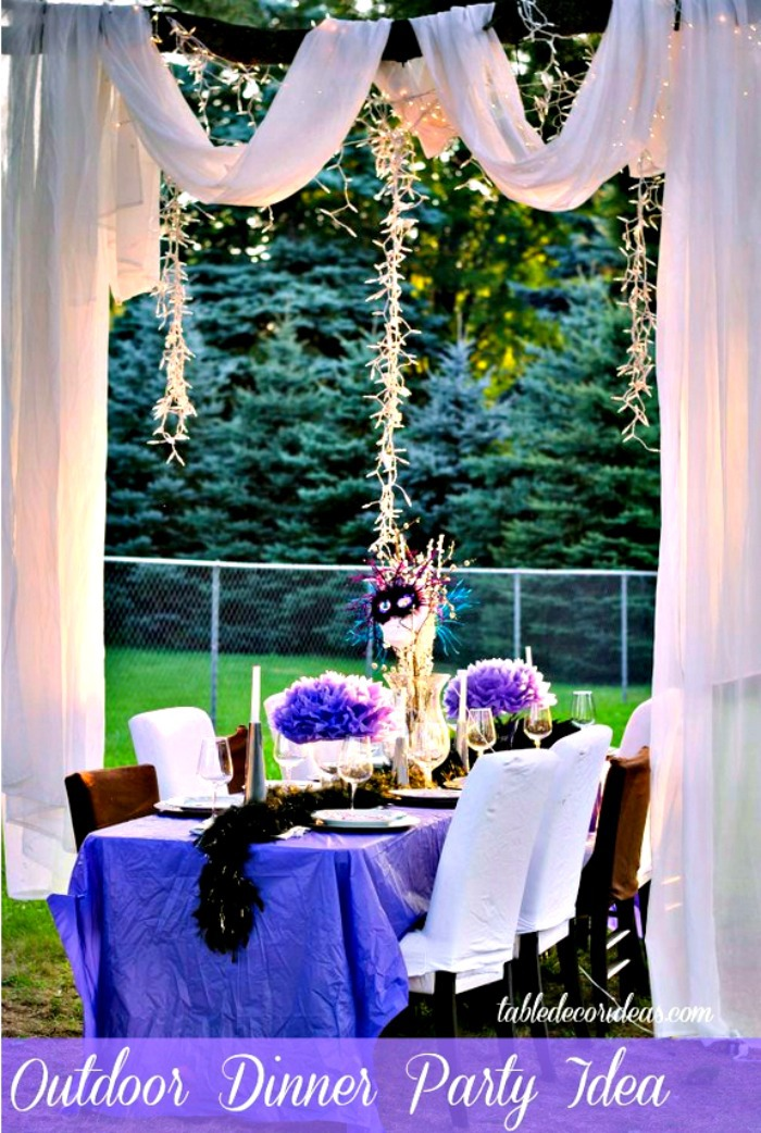Elegant Outside Table Decor Idea- Dinner Party