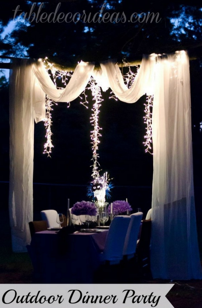 Elegant outside table decor idea dinner party Elegance decor