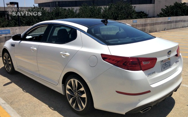 2014 kia optima from the back