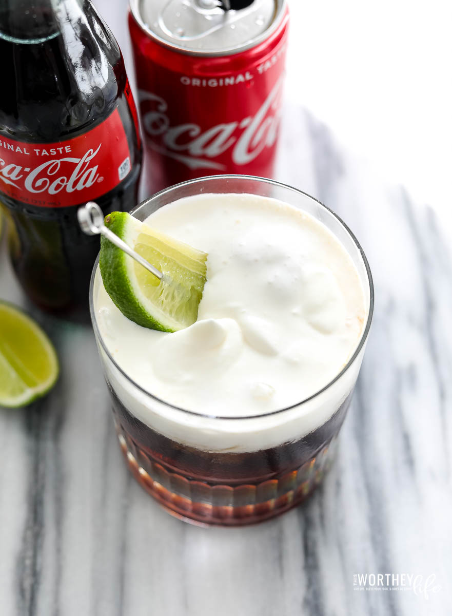 non-alcoholic drinks using coke
