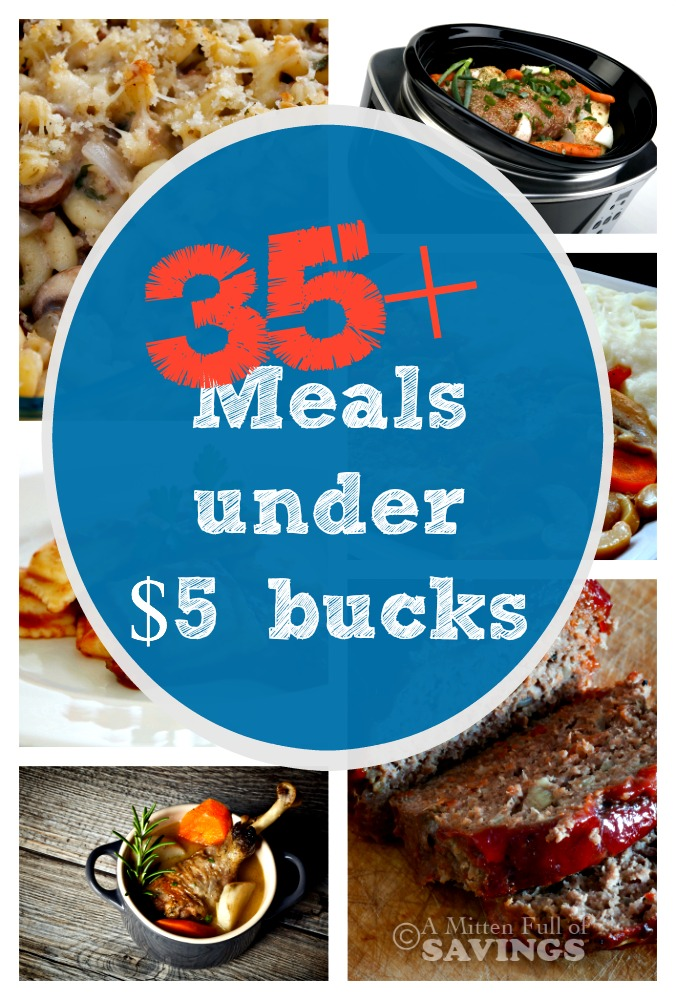 We all love saving money on food. We've rounded up 35+ budget-friendly family-friendly dinner ideas under $5 bucks. Check out the variety of recipes listed below and create a dinner idea your family and budget will love! https://www.awortheyread.com/meals-under-5-bucks/