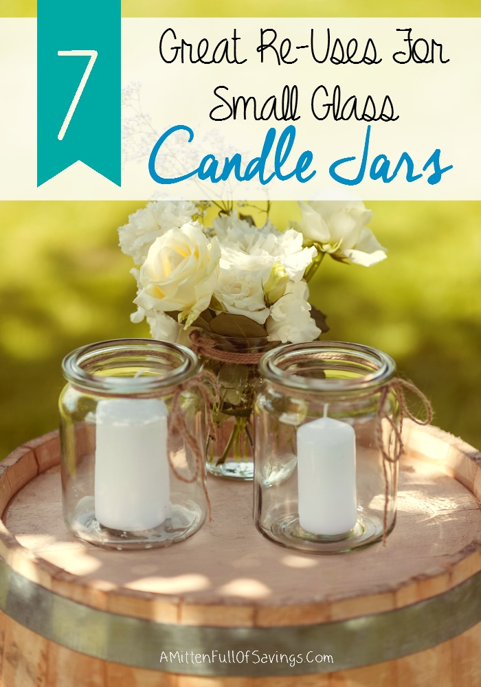 7 great reuses for small glass candle jars