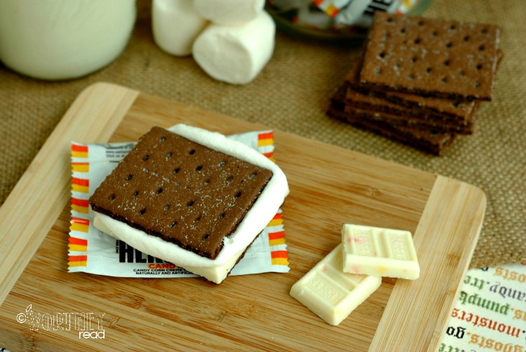Hershey's Candy Corn Chocolate S'mores