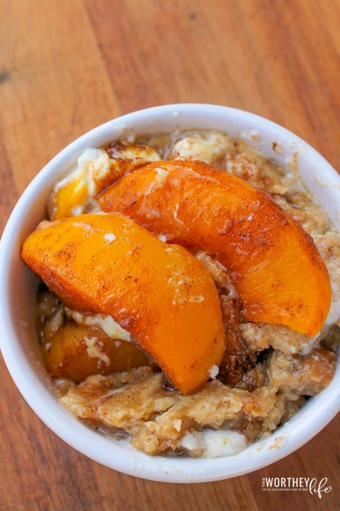 easy recipes for peaches and cream french toast