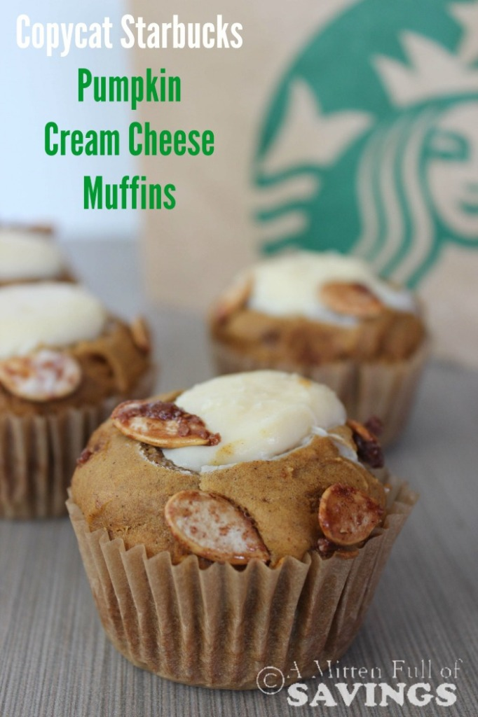 Love Starbucks? Here's an easy Copycat Starbucks recipe for Copy Cat Starbucks Pumpkin Cream Cheese Muffins Pin it now!