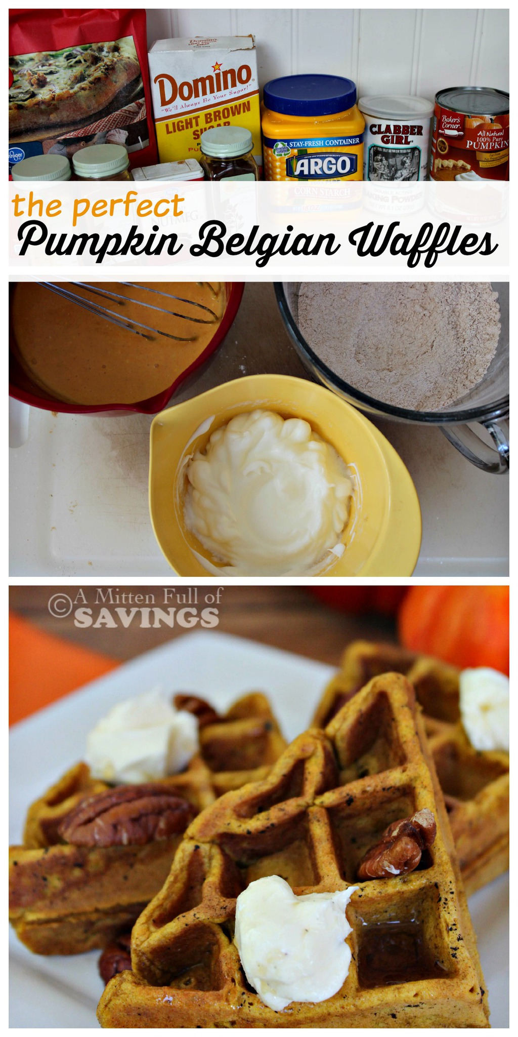 easy recipes for Pumpkin Belgian Waffles