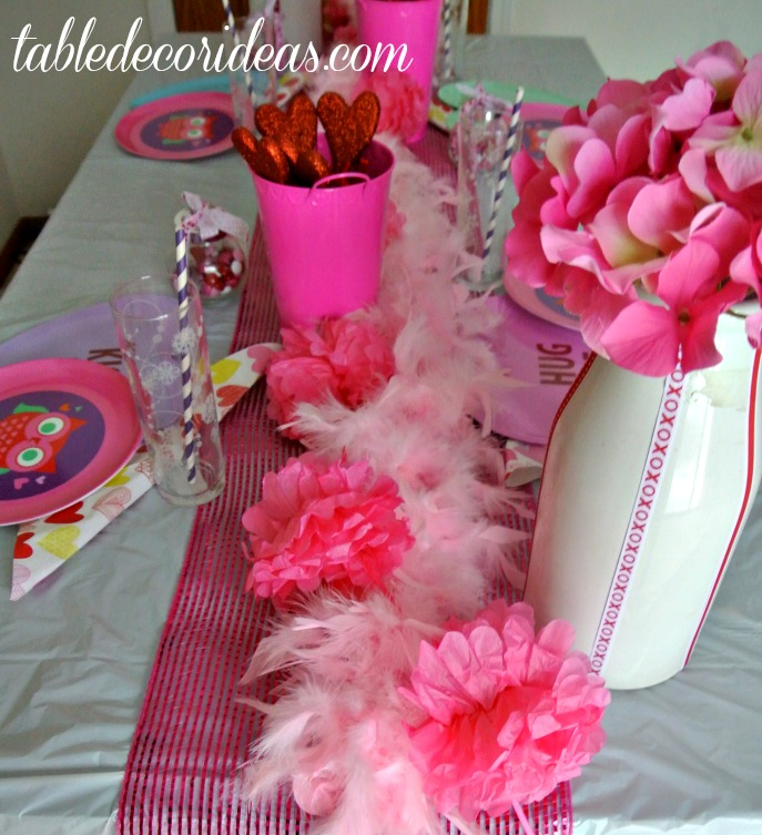 Valentine Table Decor Idea - Owl Be Your Valentine
