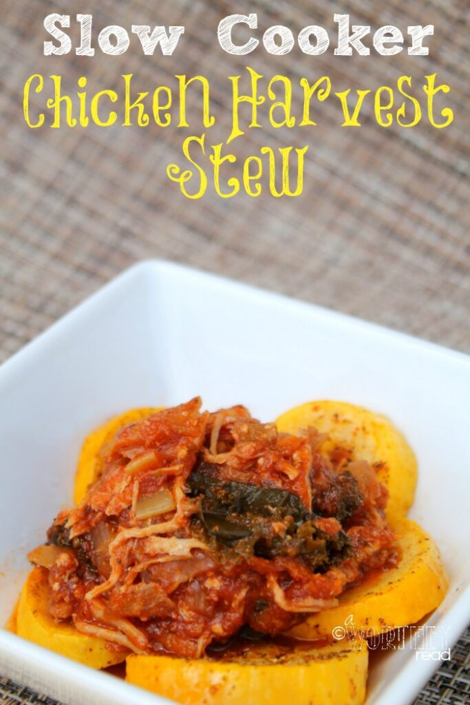 Gluten Free Recipe- Slow Cooker Chicken Harvest Stew. This easy recipe is also Freezer friendly.