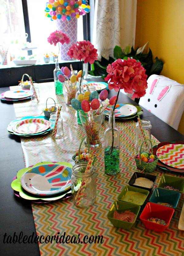 table decor easter egg idea