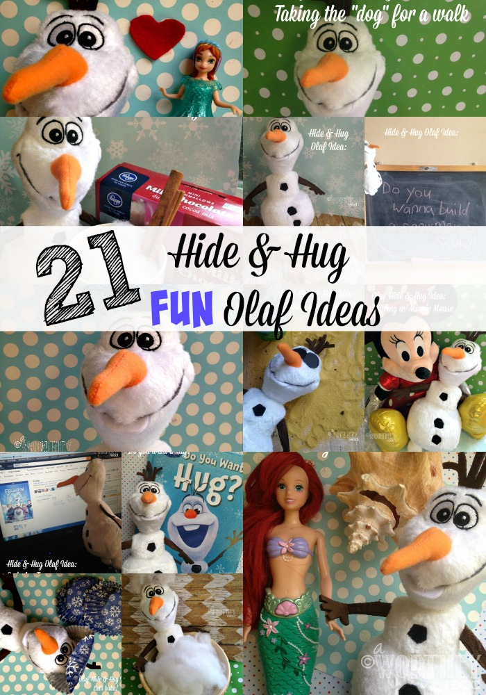 21 Hide and Hug Fun Olaf Ideas