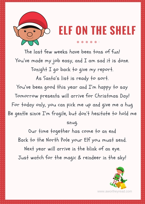 photo about Elf on the Shelf Letter Printable called Printable Elf Upon The Shelf Goodbye Letter - This Worthey