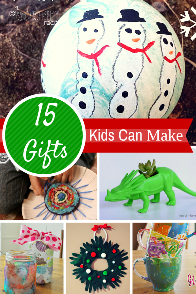 Easy Christmas Gift ideas that Kids can make on their own! Come check them out and try a few this year- Gifts Kids Can Make
