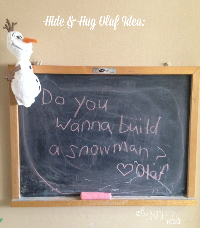 Hide and hug olaf idea day 13