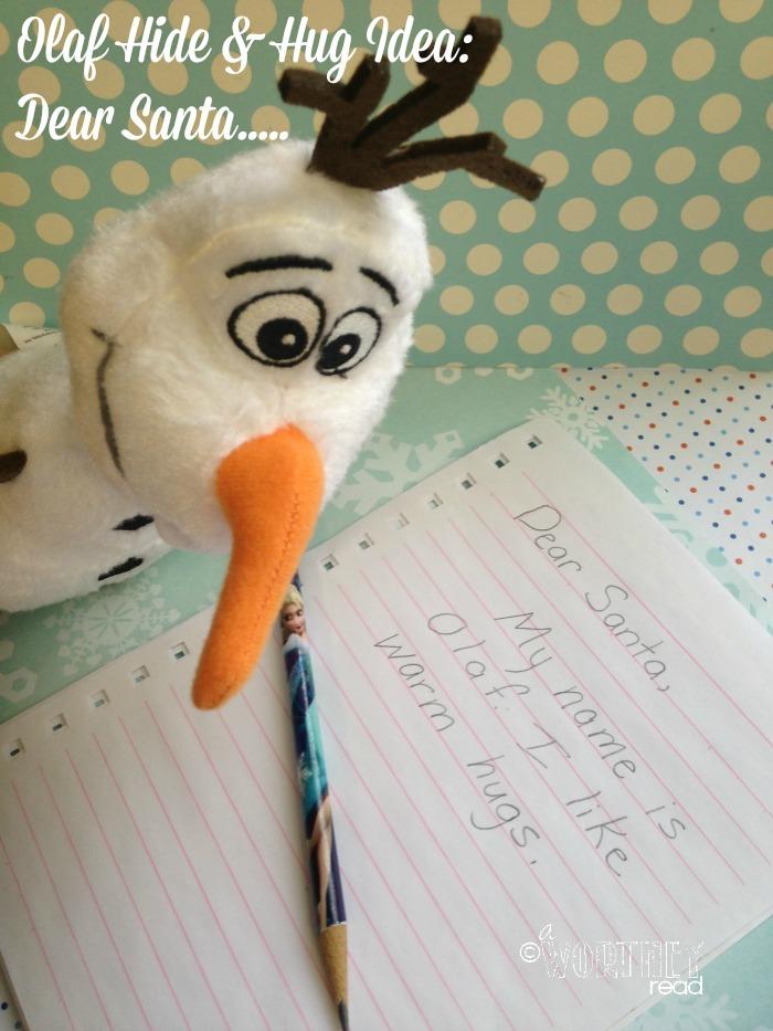 Olaf Hide and hug idea day 8