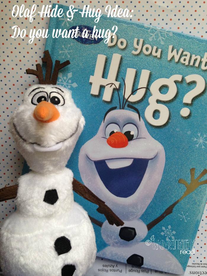 olaf hide and hug idea day 2
