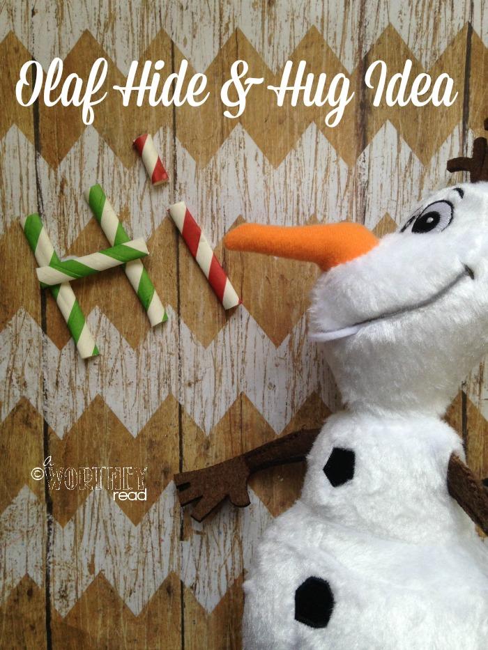 olaf hide and hug idea day 3