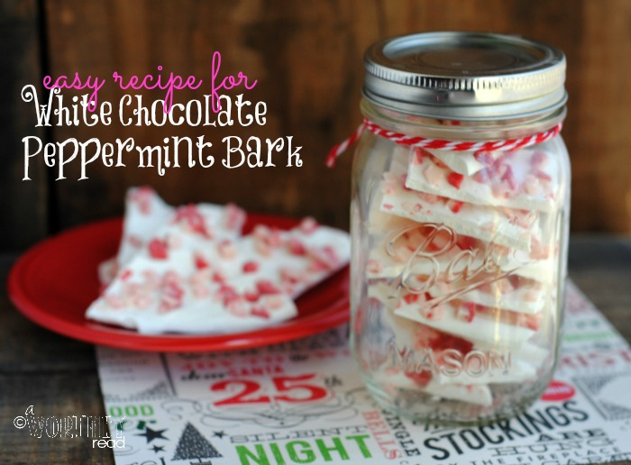 Here's an easy recipe for recipe for White Chocolate Peppermint Bark