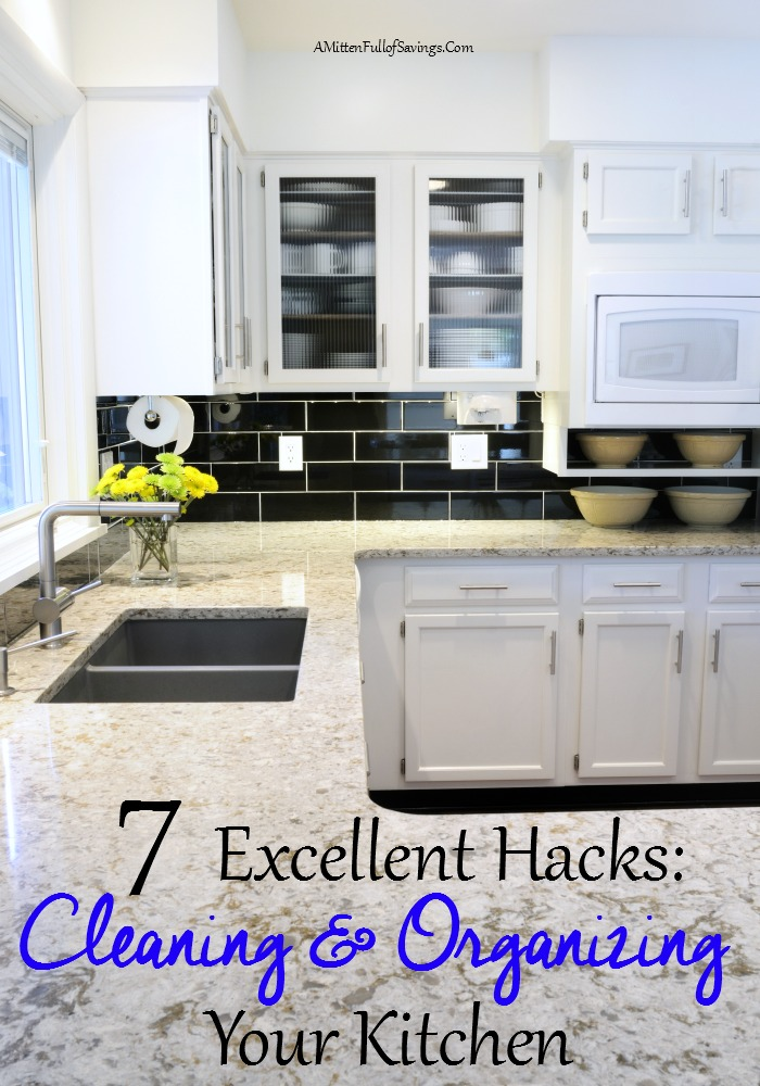 You don't have to spend hours in the Kitchen getting it organized! Use these 7 Excellent Kitchen Hacks for great organized kitchen ideas