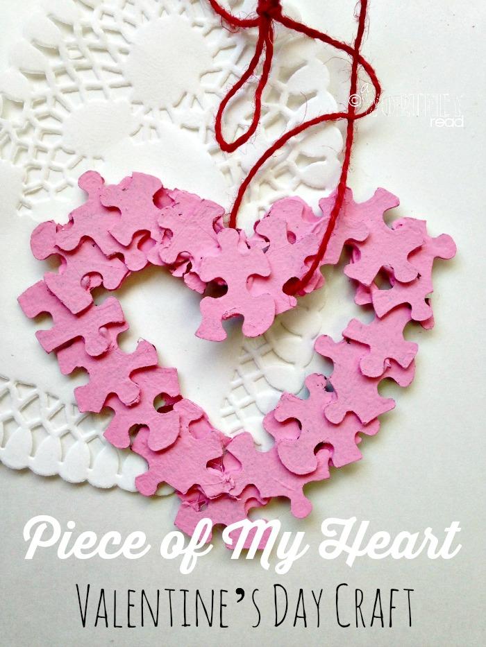autism awareness, valentine's day craft