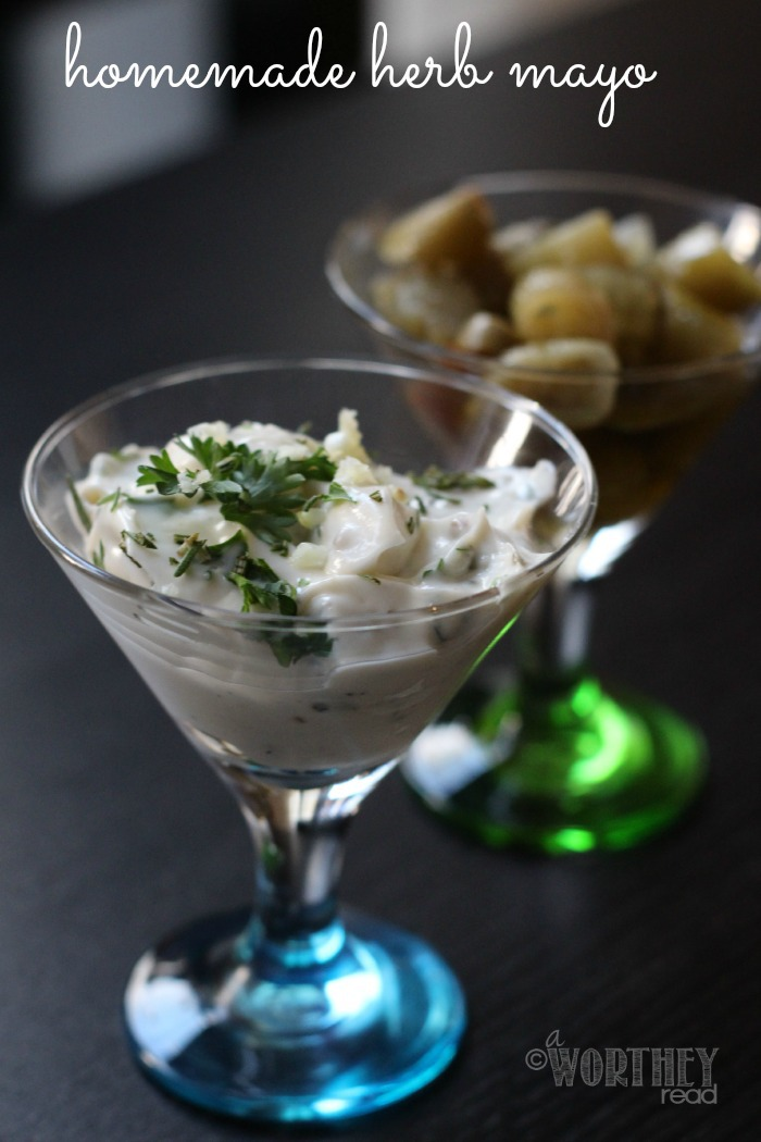 Easy Homemade Condiment to make for Herb Mayo