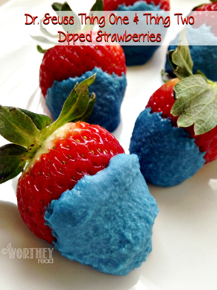 Dr. Seuss Thing One & Thing Two Dipped Strawberries