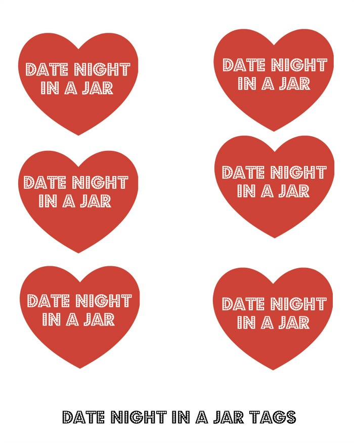 photo relating to Date Night Jar Printable named Basic Day Night time Guidelines: 20 Day Night time Options in direction of retain the services of with Day