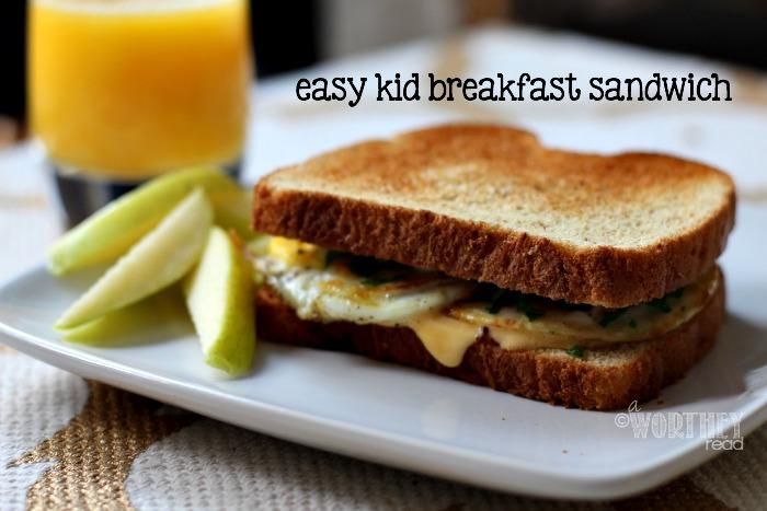 The kids will love this easy kid-friendly breakfast sandwich