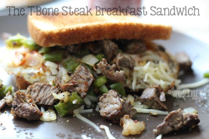Take your breakfast sandwich to the NEXT level with this Ultimate Breakfast Sandwich- The T-Bone Steak Breakfast Sandwich