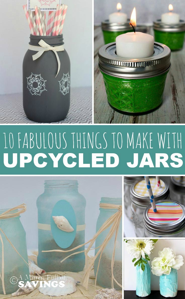 Put those old mason jars, glass jars and baby jars to good use with these upcycled craft ideas- 10 Fabulous Things To Make With Upcycled Jars